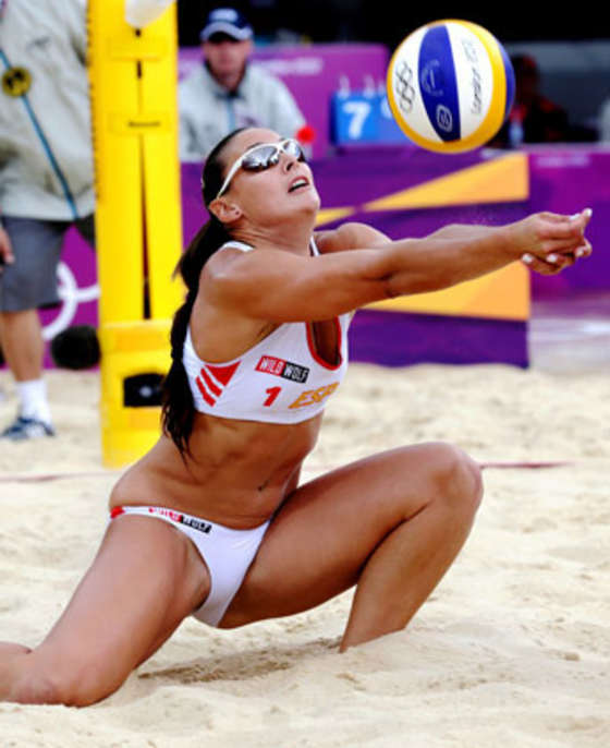 girl volleyball Sexy oops beach