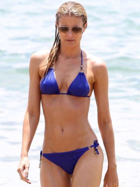 Paige Butcher in a Blue Bikini -07