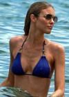 Paige Butcher in a Blue Bikini -15