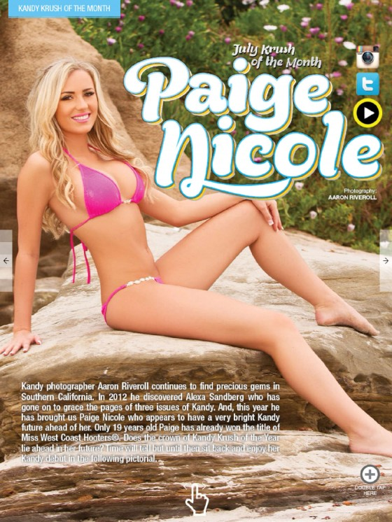 Paige Nicole Bikini Photos: Kandy Magazine 2013 -07
