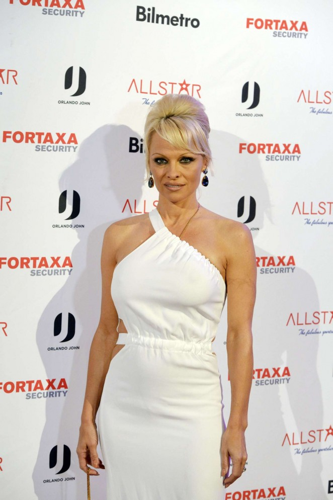Pamela Anderson at All Star Nightclub Inauguration in Sandviken