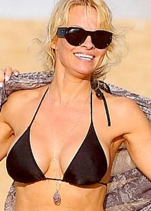 Pamela Anderson in Black Bikini -04