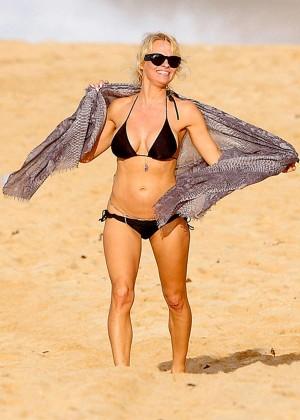 Pamela Anderson in Black Bikini -06