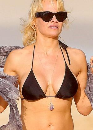 Pamela Anderson in Black Bikini -07