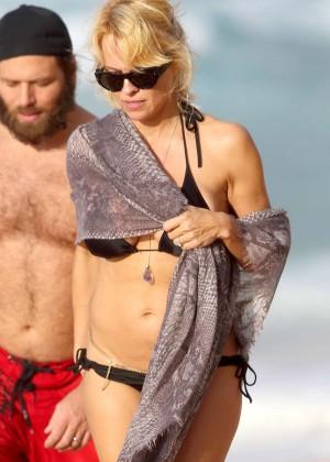 Pamela Anderson in Black Bikini -08