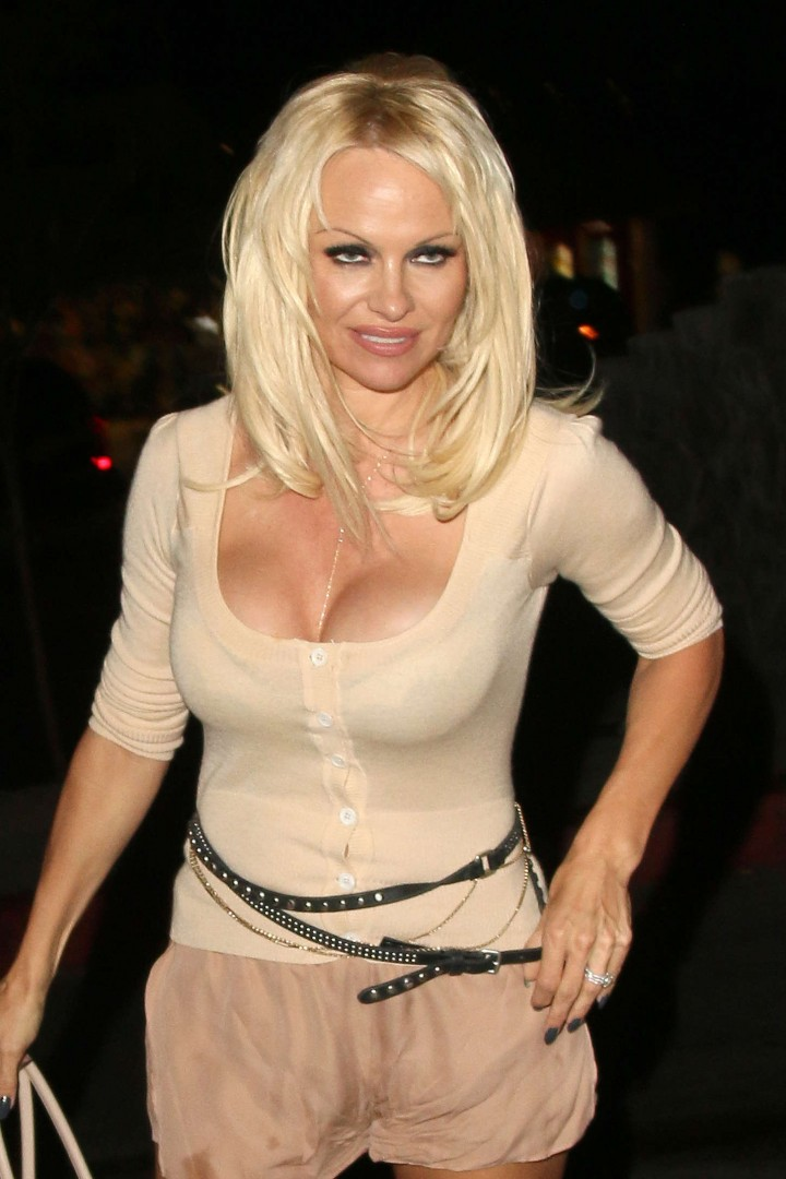 Pamela Anderson - Leaving Chateau Marmont in Los Angeles