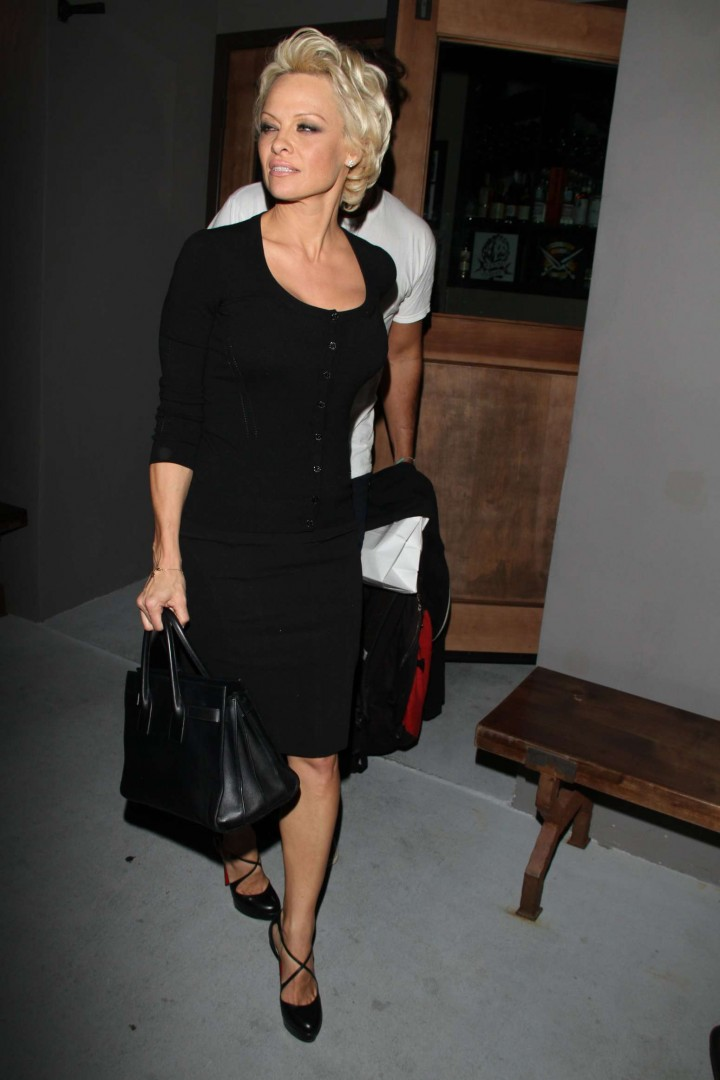 Pamela Anderson Hot in Black Dress -02