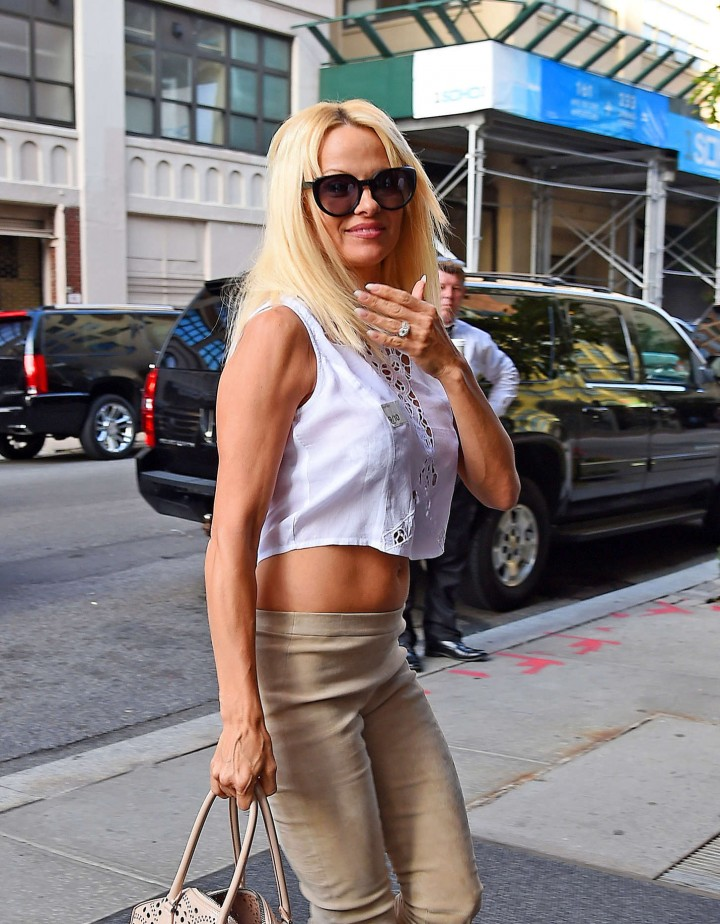 Pamela Anderson - Out at SoHo in New York City