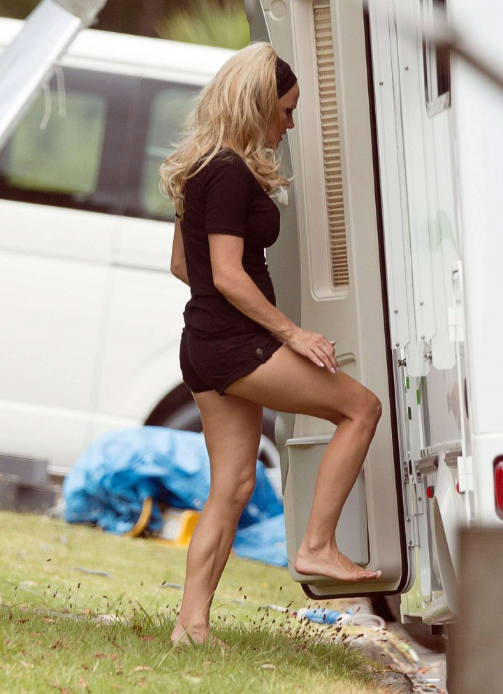Pamela Anderson shooting a commercial in Auckland -01