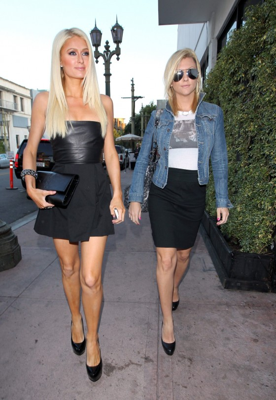 paris hilton arrives at beso in hollywood to film her reality tv show june 2011 04 gotceleb. Black Bedroom Furniture Sets. Home Design Ideas