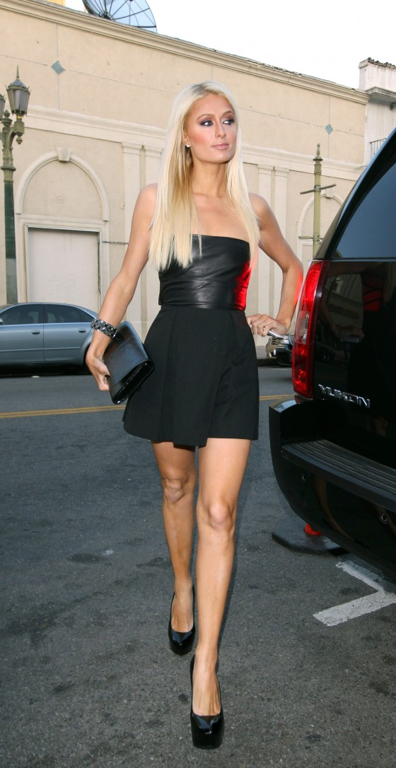 paris hilton arrives at beso in hollywood to film her reality tv show june 2011 05 gotceleb. Black Bedroom Furniture Sets. Home Design Ideas