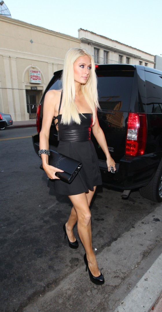 paris hilton arrives at beso in hollywood to film her reality tv show june 2011 07 gotceleb. Black Bedroom Furniture Sets. Home Design Ideas