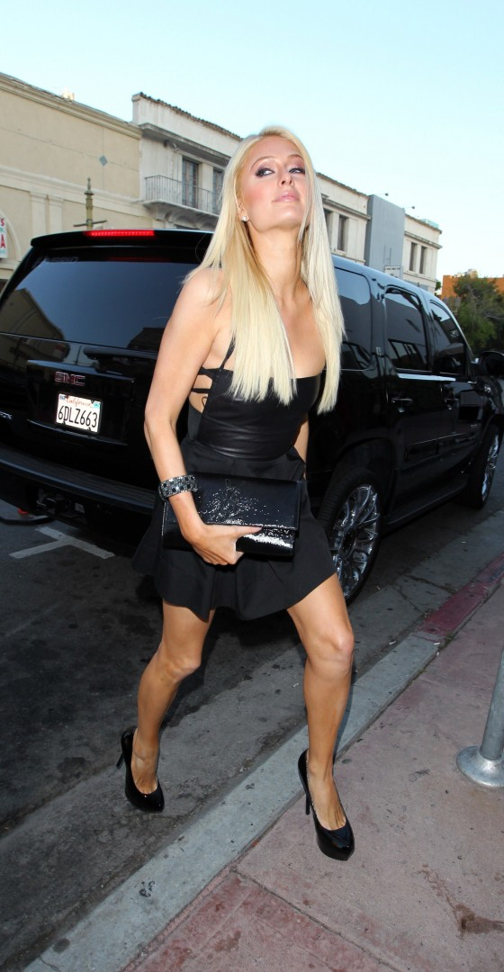 paris hilton arrives at beso in hollywood to film her reality tv show june 2011 09 gotceleb. Black Bedroom Furniture Sets. Home Design Ideas