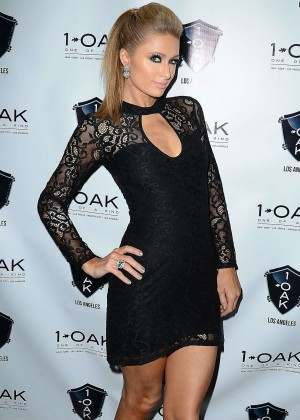 Paris Hilton in Tight MIni Dress -02