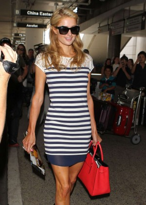 Paris Hilton Spotted at LAX Airport