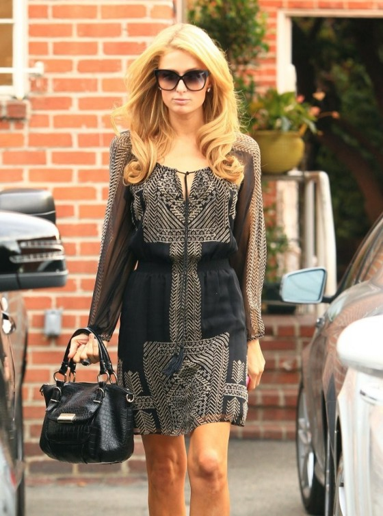 Paris Hilton at Pinky Salon in Beverly Hills