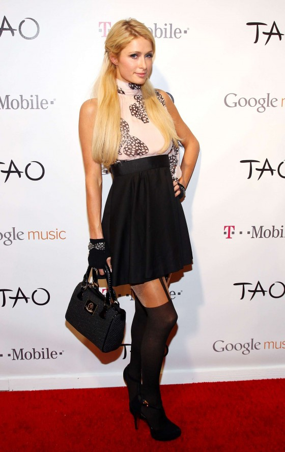 Paris Hilton - Attends Google Music at TAO Nightclub by TMobile Utah-05