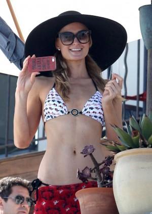 Paris Hilton Bikini Photos: in Malibu -09