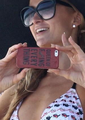 Paris Hilton Bikini Photos: in Malibu -11