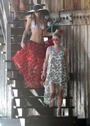 Paris Hilton Bikini Photos: in Malibu -16