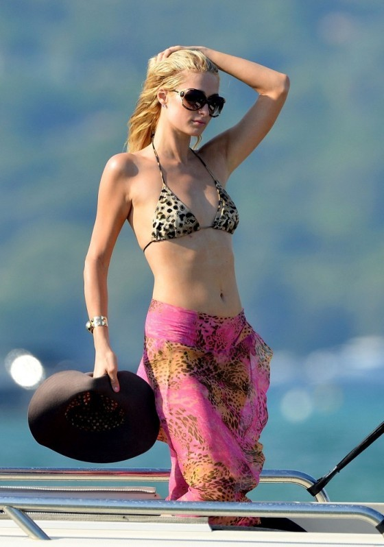 Paris Hilton – bikini top in Saint Tropez-14