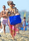 Paris Hilton - bikini top in Saint Tropez-15