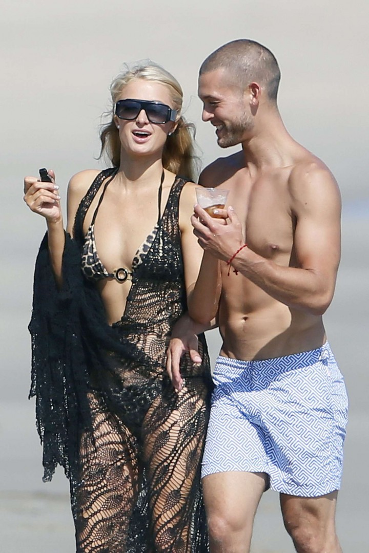 Paris Hilton bikini on the beach in Malibu