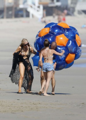 Paris Hilton bikini on the beach in Malibu -20