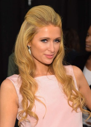 Paris Hilton - Dennis Basso Spring 2015 Fashion Show in NYC