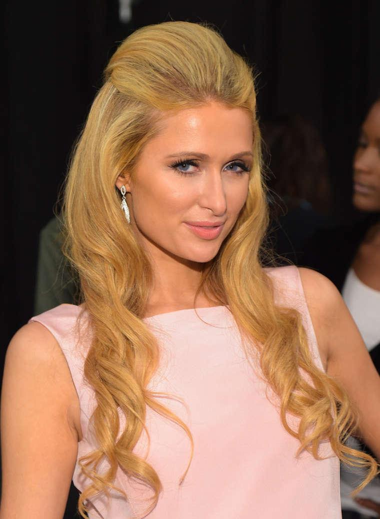 Paris Hilton - Dennis Basso Spring 2015 Fashion Show in NYC