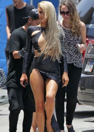 Paris Hilton: High Off My Love music video set -02
