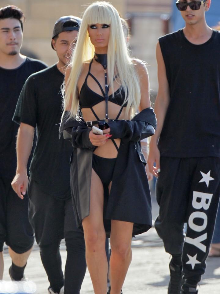 Paris Hilton: High Off My Love music video set -05
