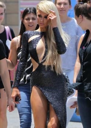 Paris Hilton: High Off My Love music video set -07