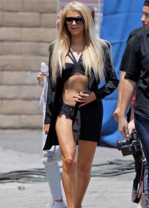 Paris Hilton: High Off My Love music video set -08
