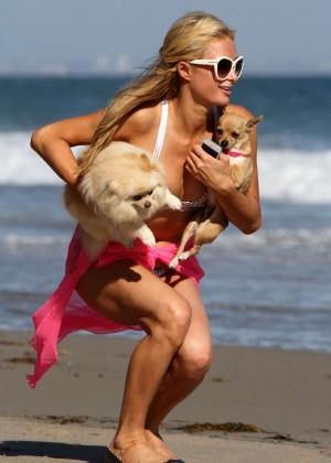 Paris Hilton in a Bikini in Malibu -07