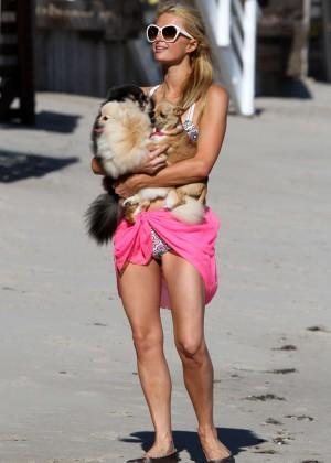 Paris Hilton in a Bikini in Malibu -17