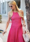 Paris Hilton leggy in Pink Dress-01