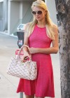 Paris Hilton leggy in Pink Dress-07