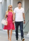 Paris Hilton leggy in Pink Dress-09