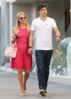 Paris Hilton leggy in Pink Dress-11