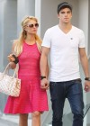 Paris Hilton leggy in Pink Dress-12