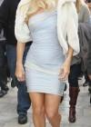 Paris Hilton Leggy interview for ET Extra at The Grove
