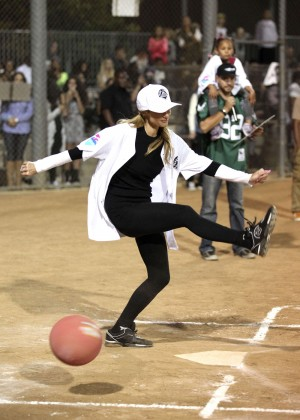 Paris Hilton - Kick'N It For Charity Celebrity Kick Ball Game in Glendale