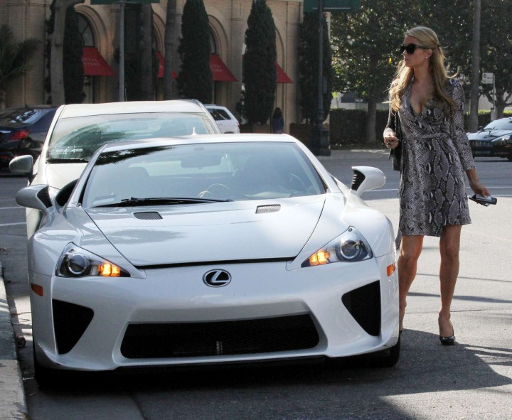 Paris Hilton Lexus Ride  06