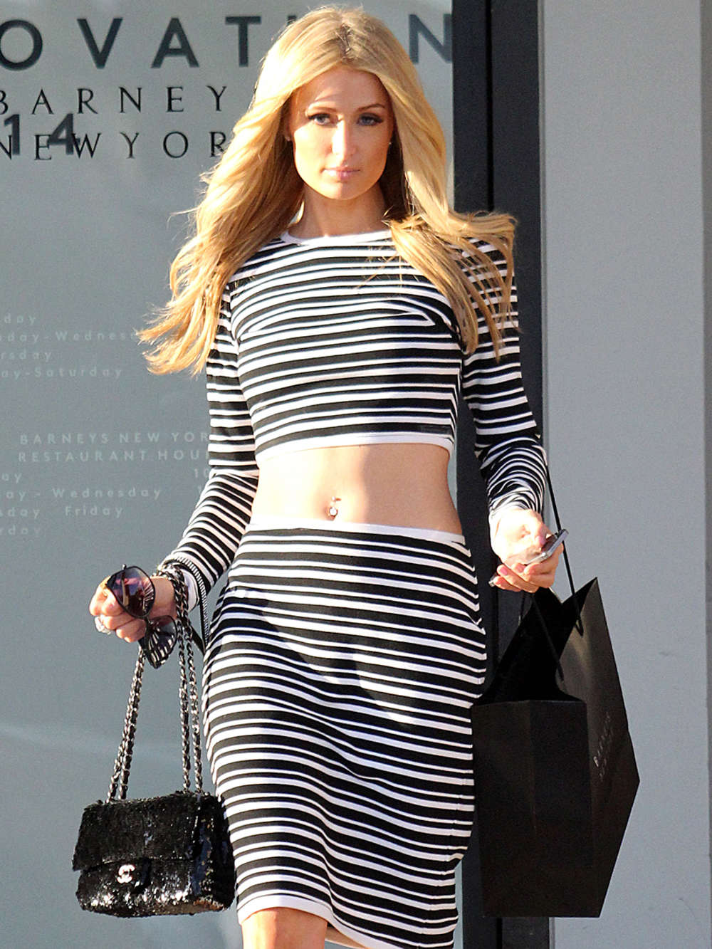 Paris Hilton Beverly Hills Candids In Green