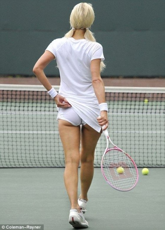 Paris Hilton Playing Tennis In Beverly Hills Gotceleb