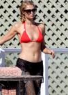 Paris Hilton in Red Bikini -10