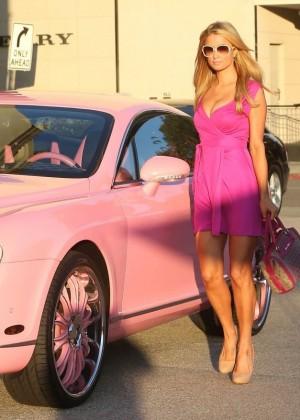 Paris Hilton: Shopping Candids at Barneys -02