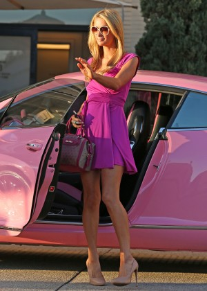 Paris Hilton: Shopping Candids at Barneys -06