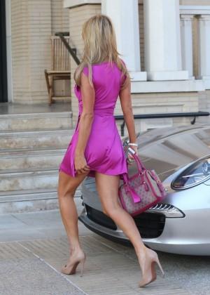 Paris Hilton: Shopping Candids at Barneys -08